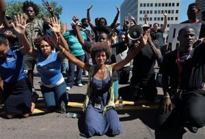 Protestors in Ferguson, photo credit fergusonoctober.com